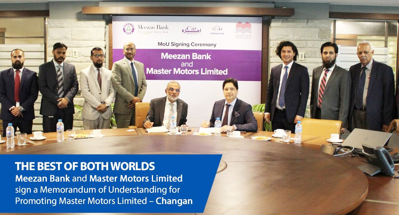 Meezan Bank and Master Motors Limited sign a MoU for